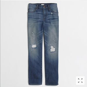 J. Crew • Distressed boyfriend jeans medium wash